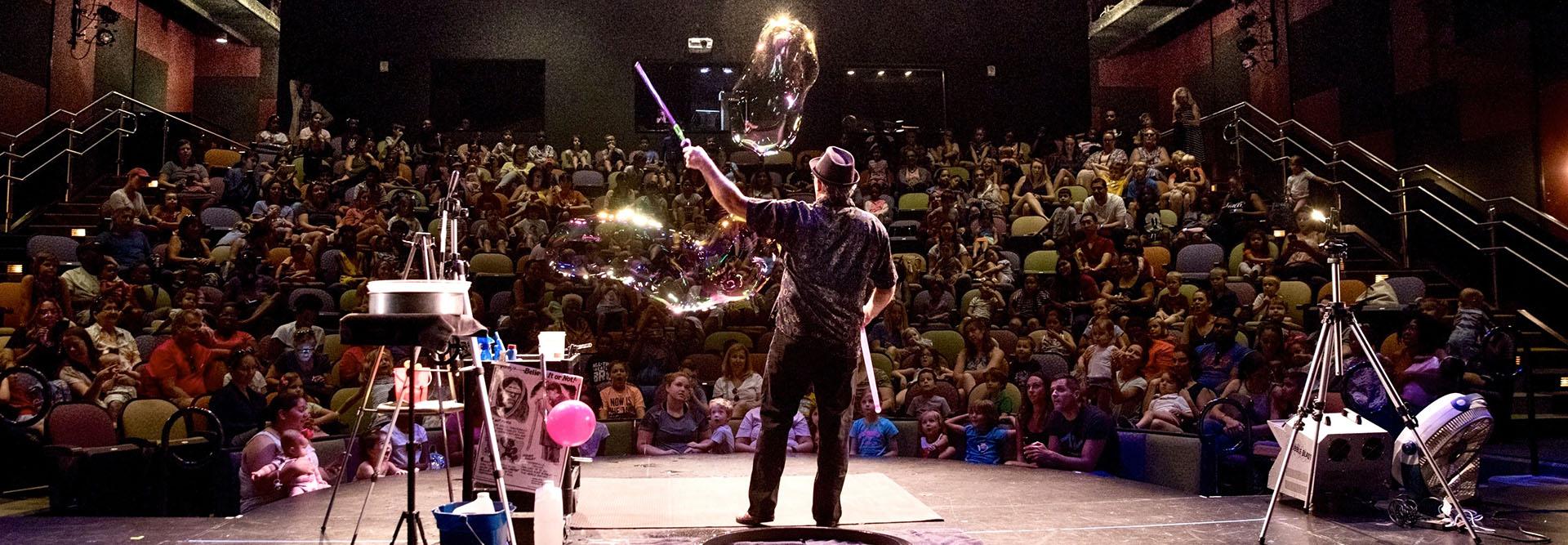 Steve Performing Indoors
