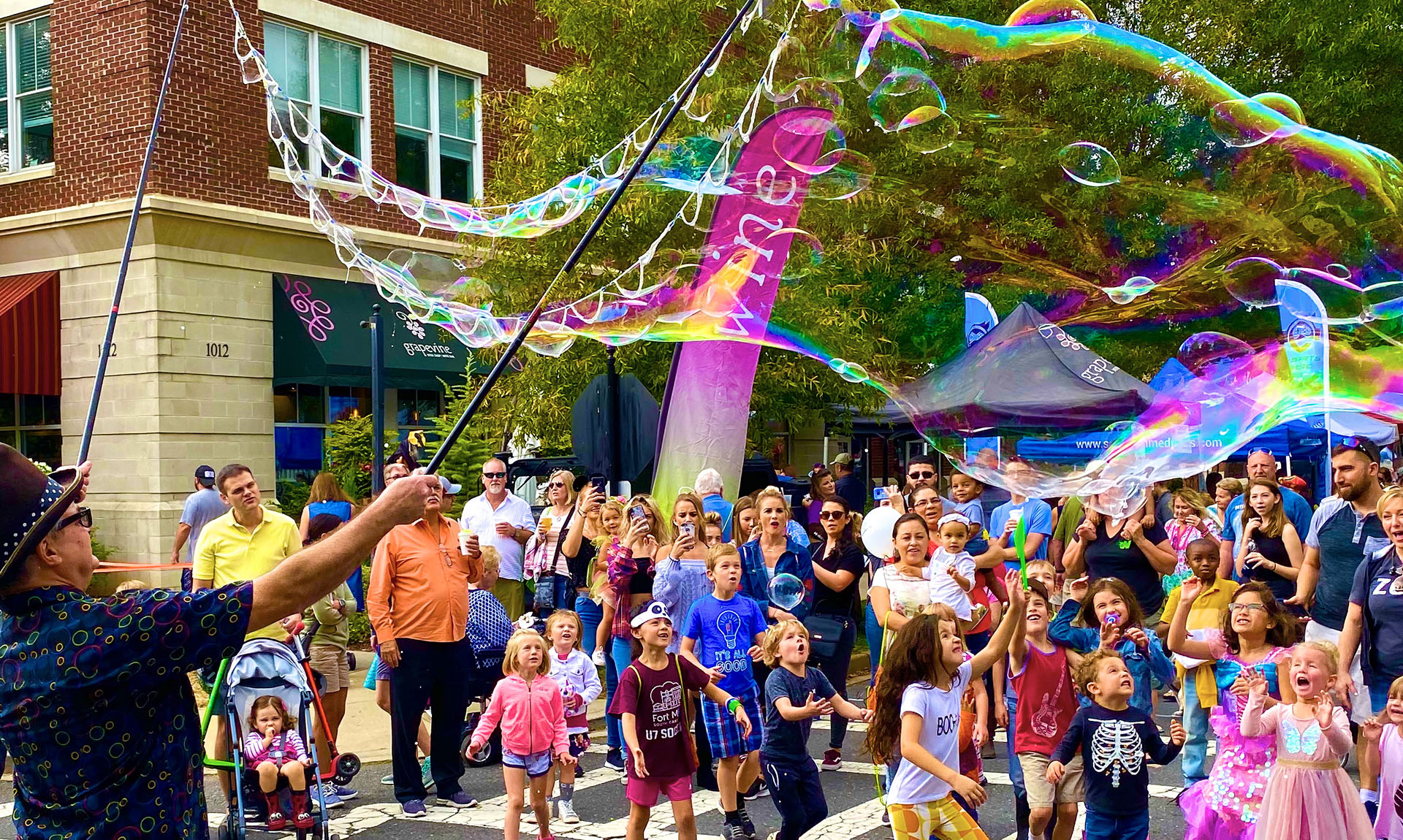 Kids Love Steve's Outdoor Bubbles